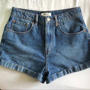 Forever 21 high waist denim shorts